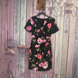 adrianna papell floral dress size 2 petite R14